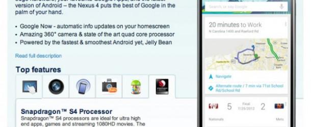 lg nexus 4, google presenta il nuovo smartphone