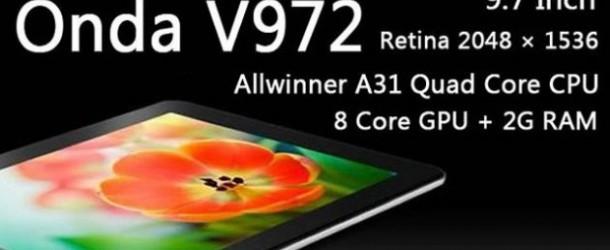 Onda v972, il migliore tra i tablet?